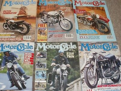 The Classic Motorcycle Magazines 1991 ( 6 Issues )