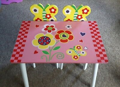Girls Wooden Table and Chair Set