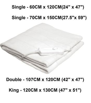 New Fashion Heat Control Electric Blanket All Sizes From £15.09