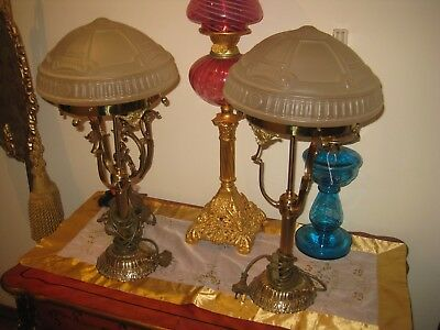 Vintage Pair Of Art Deco Inspired Table Lamps