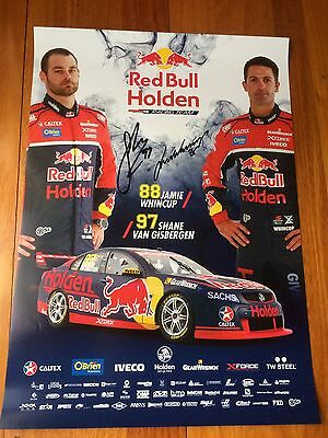 Signed Van Gisbergen / Whincup 2017 Red Bull Holden Racing Team poster