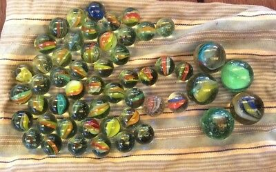 Vintage 1960s Early 1970s Collectable Marbles