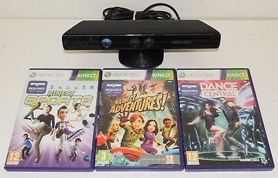 XBOX 360 Kinect Sensor & Games Bundle