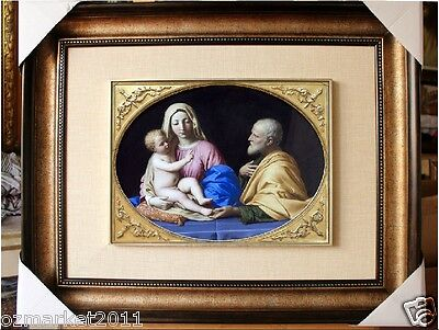 Catholic Church Portrait Jesus Cross Christian Blessed Cloth Delicate Frame I