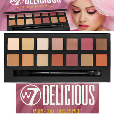 W7 Cosmetics Delicious Natural Nudes & Berry 14 Mix Eye Colore Ombretto Palette