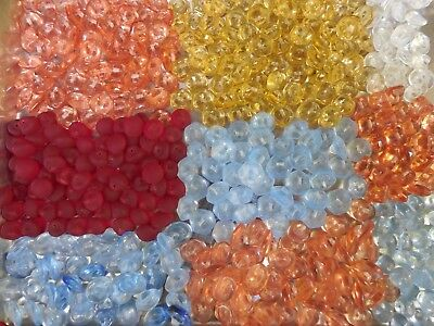 400 LOT OLD CZECH VINTAGE GLASS BUTTONS CRYSTAL 13mm