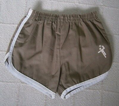 Vintage Cotton Shorts - Age 2-4- Mink Brown - White Trim - New