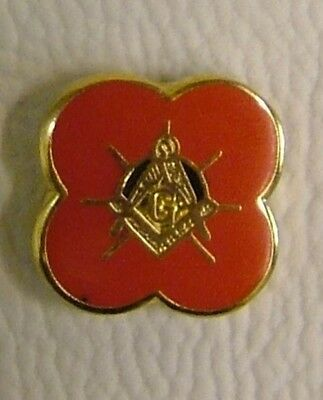 NEW Scottish Masonic Poppy(square and compass with G) Lapel pin LP43