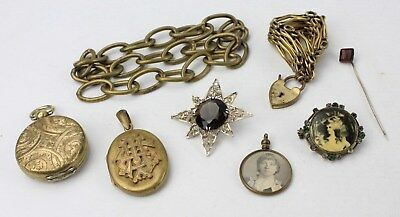 Vintage & Antique COSTUME JEWELLERY inc. Rolled Gold, Locket, Photo, Stick Pin