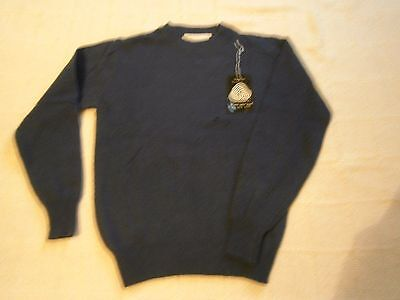 "Vintage Lambswool Sweater - 28"" Chest Approx - Navy - Defects - New"