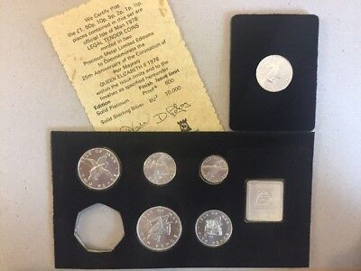ISLE OF MAN 1978 SILVER 6 COIN SET WITH POBJOY MINT MEDALLION With Coa