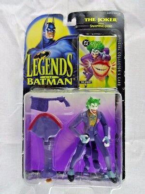 "Legends of the Batman The Joker with Snapping Jaw 1995 Kenner 4.5"" Unopend"