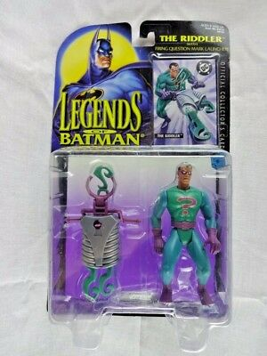 "Legends of the Batman The Riddler with Launcher 1995 Kenner 4.5"" Unopend"