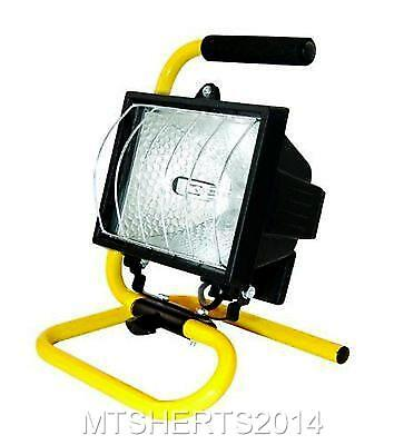 Portable 500w Halogen Lamp Flood Security Work Light with Stand T8