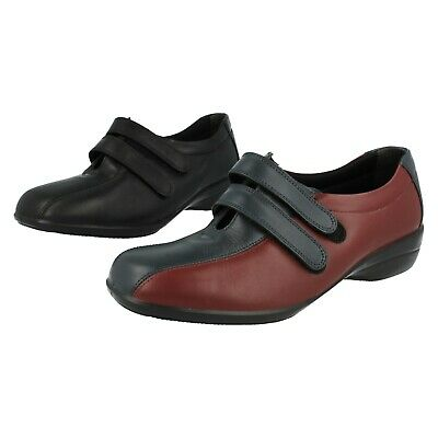 Ladies Easy B Leather Rip Tape Shoes Fitting 2E - 4E Chantelle 2
