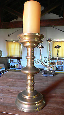 Impressive 16th Century Brass Pricket Candlestick