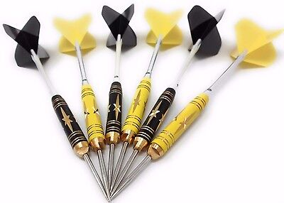 6 pcs (2 sets) COLOURED Steel Needle Tip Dart Darts With Nice Flight Flights