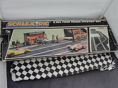 Scalextric 1970's Twin Track Pitstop Set C190  Pcs Used Boxed