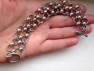 VINTAGE MEXICO 925 MEXICAN STERLING SILVER BRACELET 41 grams