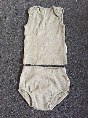 Purebaby Singlet and Nappy Cover 0000