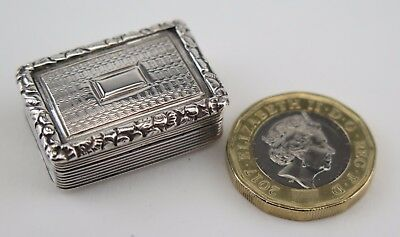 Georgian silver vinaigrette William Simpson, Birmingham 1828