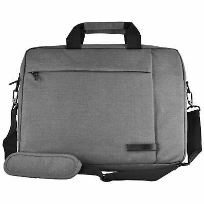 Messenger Canvas Laptop Computer Case Bag Fits up to 15.6 inch Computer (Grey)
