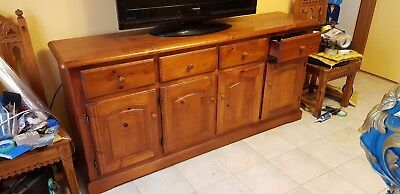 Solid Timber Buffet/Sideboard 4 Drawers and Cupboards