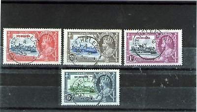St Helena King George V Used Stamps 1935 Jubilee Set Windsor Castle