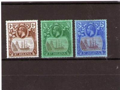 St Helena King George V Mint Stamps Sg 106,107,108 Ships High Values