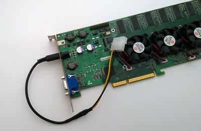 3Dfx - Cable 1 PIN  powering Up - Voodoo5 6000 - 3400 A3 - 3700 A