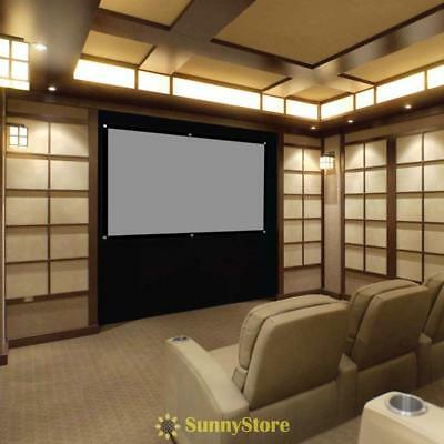 84 Inch Portable Fabric Matte Projection Projector Screen Home Cinema Theater UK