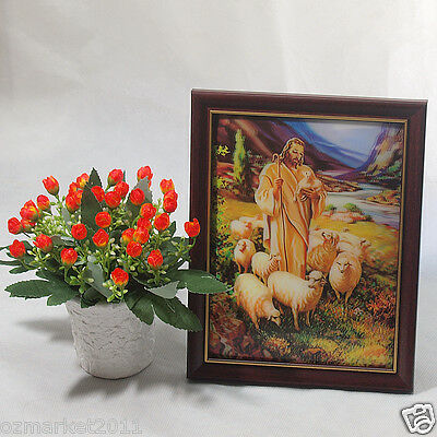 Catholic Church Portrait Jesus Cross Christian Blessed Frame Decoration Gift