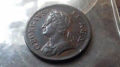 1754 farthing george 11   very high grade