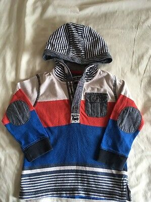 Boys Long Sleeved Hooded Top 18-24 Months