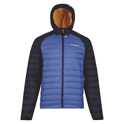 Dare2b Downslope Insulated Water Repellent Ilus 600 Duck Fill Jacket Blue XXXL