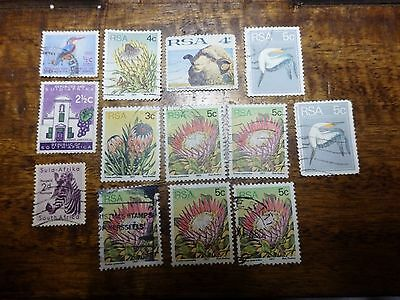 13x SOUTH AFRICA STAMPS
