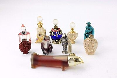 Collection of x10 Vintage Perfume Bottles Mixed Styles and Designs BASE METALS