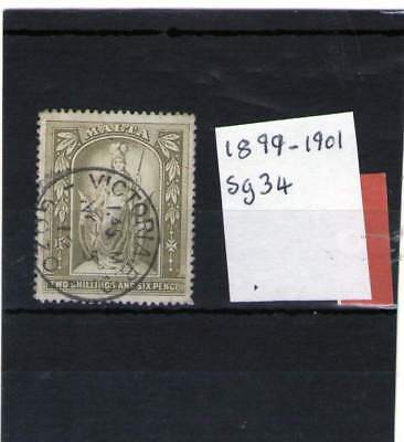Malta Queen Victorian Used Stamp 1899-1901 Sg34