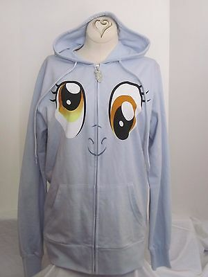 New w/out Tags My Little Pony Hooded Jacket Size Small Light Blue/Grey