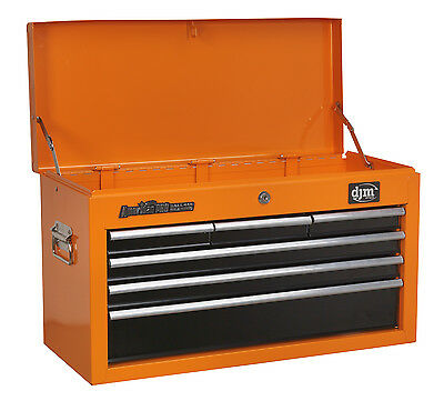 American Pro 6 Drawer Orange Top Chest Tool Box Ball Bearing Slides ReCon