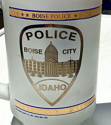 Karan-Kent Boise City Idaho Police Department Frosted 22K Trimmed Stein AS-IS