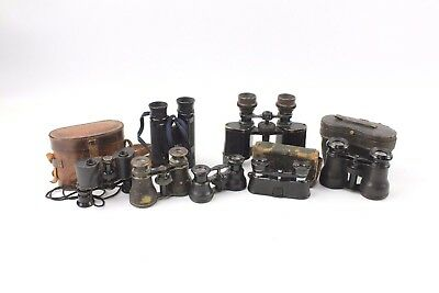 Collection of 7x Vintage BINOCULARS Mixed Sizes and Designs 3 with Cases