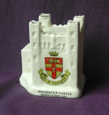 Arcadian Crested China. Rochester Castle. Matching Crest.