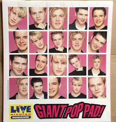 Top of the Pops WESTLIFE / FIVE Original Vintage Unused Giant Pop Notepad