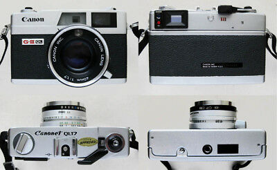 EXC+ Vintage rangefinder camera Canon Canonet QL17 GIII + extras