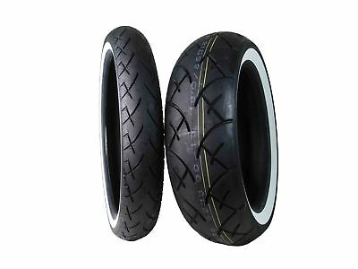 Full Bore 100/90-19 Front 180/65-16 Rear Set White Wall Cruiser Motorcycle Tires