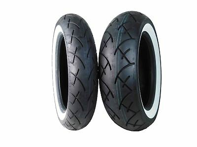 Full Bore 130/90-16 Front 170/80-15 Rear Set White Wall Cruiser Motorcycle Tires
