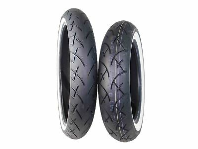 Full Bore 120/70-21 Front 130/90-16 Rear Set White Wall Cruiser Motorcycle Tires