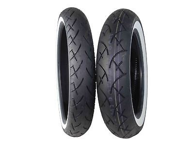 Full Bore 100/90-19 Front 130/90-16 Rear Set White Wall Cruiser Motorcycle Tires