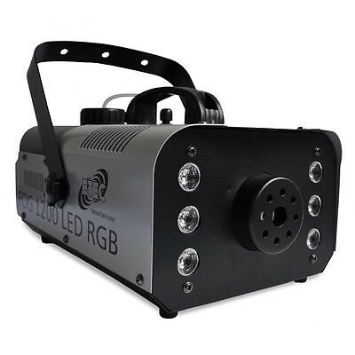 ETEC FOG 1200 LED Nebelmaschine 6x3 Watt LED RGB 3in1 Funkfernbedienung Fogger